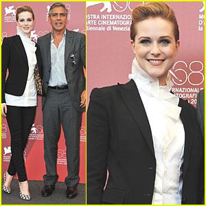 George Clooney & Evan Rachel Wood: 'Ides' Photo Call