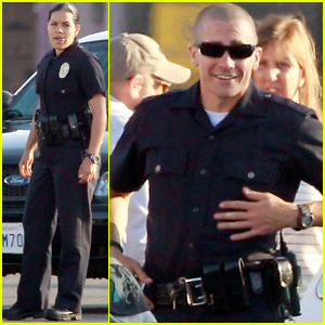 Jake Gyllenhaal &#038; America Ferrera: On Set of 'End of Watch'!