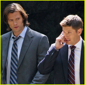 Jared Padalecki & Jensen Ackles Suit Up for 'Supernatural'