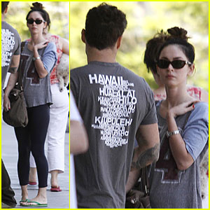 Megan Fox Runs Errands with Brian Austin Green