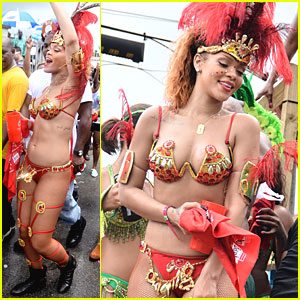 Rihanna: Super Sexy for Kadooment Day Parade!