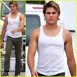 Zac Efron: Pumped Up on 'Paperboy' Set!