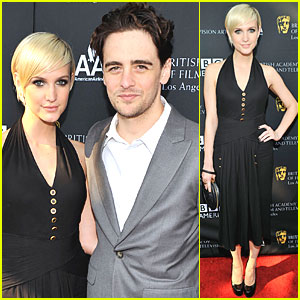 Ashlee Simpson & Vincent Piazza: BAFTA Tea Party