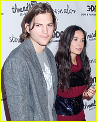 Ashton Kutcher & Demi Moore Spend Anniversary Apart