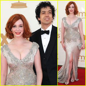 Christina Hendricks - Emmys 2011 Red Carpet