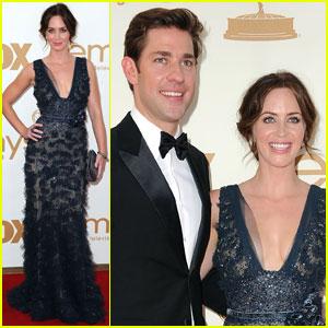 Emily Blunt & John Krasinski - Emmys 2011 Red Carpet