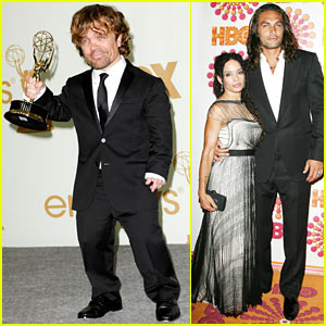 Jason Momoa Celebrates Emmys Winner Peter Dinklage