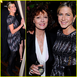 Jennifer Aniston: Artists for Haiti Dinner with Susan Sarandon!