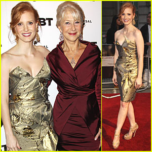 Jessica Chastain: 'Debt' UK Premiere with Helen Mirren!