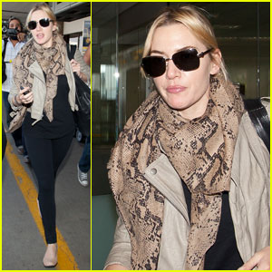 Kate Winslet Lands at LAX for the Emmys