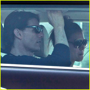 Katie Holmes & Tom Cruise Drive Away