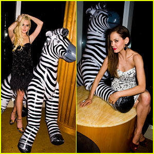 Lindsay Lohan: Zebra Blow-Up Doll with Rose McGowan!