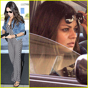 Mila Kunis Leaves LAX Airport