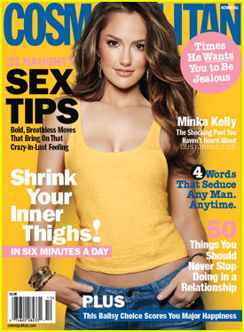 Minka Kelly Covers 'Cosmopolitan' October 2011