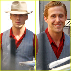 Ryan Gosling: 'The Gangster Squad' Set!