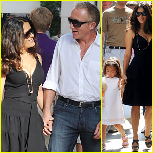 Salma Hayek: Venetian Shopping Spree with the Family!
