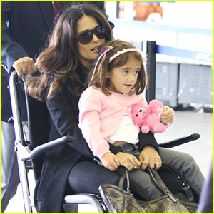 Salma Hayek: Wheelchair Ride Through LAX