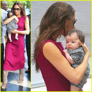 Victoria Beckham & Baby Harper Hit NYC