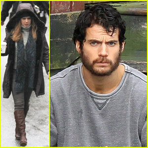 Henry Cavill & Amy Adams: 'Man of Steel' Set!