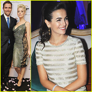 Camilla Belle: Ferragamo Fashion Show with Amber Heard!