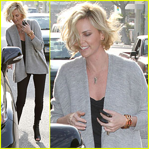 Charlize Theron: Vera Wang Boutique Visit