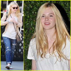 Dakota Fanning Heads Home After Class
