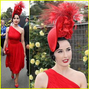 Dita Von Teese: Victoria Derby Day in Melbourne!