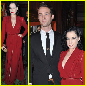 Dita Von Teese: L'Officiel Magazine Anniversary Party!