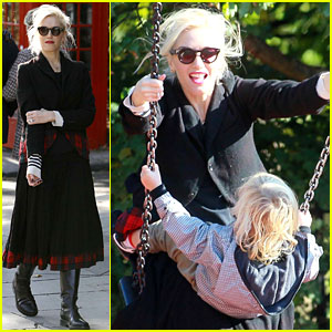 Gwen Stefani Swings with Kingston & Zuma