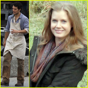 Henry Cavill & Amy Adams: On Set of 'Man Of Steel'