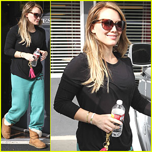 Hilary Duff Works Up a Sweat