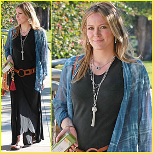 Hilary Duff Checks Out Monster Baby Slippers