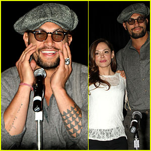 Jason Momoa: New York Comic Con with Rose McGowan!