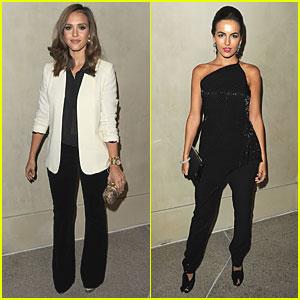 Jessica Alba & Camilla Belle: Armani & Vanity Fair Dinner!