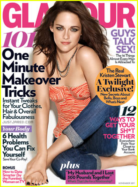 Kristen Stewart Covers 'Glamour' November 2011