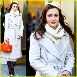Leighton Meester: 'Gossip Girl' Friday Filming!