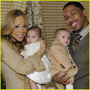 Mariah Carey & Nick Cannon Debut Roc & Roe!