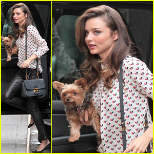 Miranda Kerr: Hanging with Frankie in NYC
