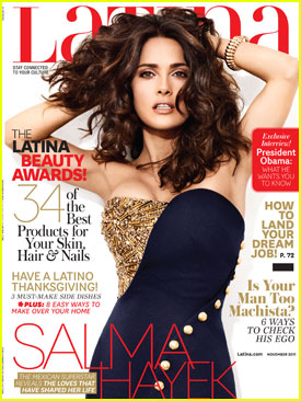 Salma Hayek Covers 'Latina' November 2011