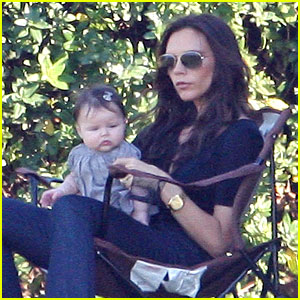 Victoria Beckham Takes a Break with Harper
