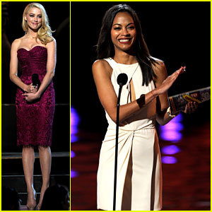 Zoe Saldana & Amber Heard: Scream Awards 2011!