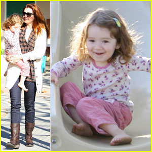Alyson Hannigan: Park Playdate With Satyana!