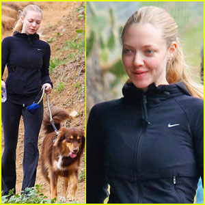 Amanda Seyfried: Thanksgiving Hike with Finn!
