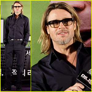Brad Pitt: 'Moneyball' Press Conference in Seoul!