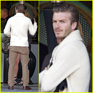 David Beckham: Prince Harry Visit in LA!