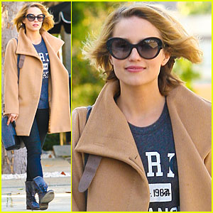 Dianna Agron: Kate Somerville Center Visit