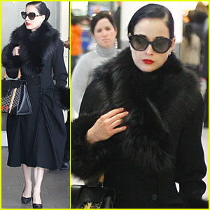 Dita Von Teese: Hello, Heathrow!