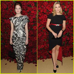 Emma Stone & Elizabeth Olsen: MoMA Film Benefit!