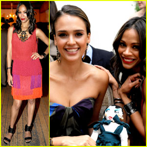 Jessica Alba &#038; Zoe Saldana: Lanvin Rendezvous!