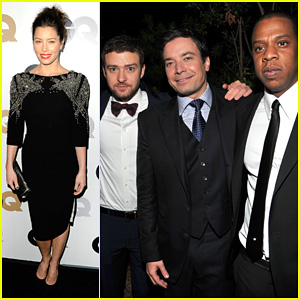 Justin Timberlake & Jessica Biel: 'GQ' Men of the Year Party!